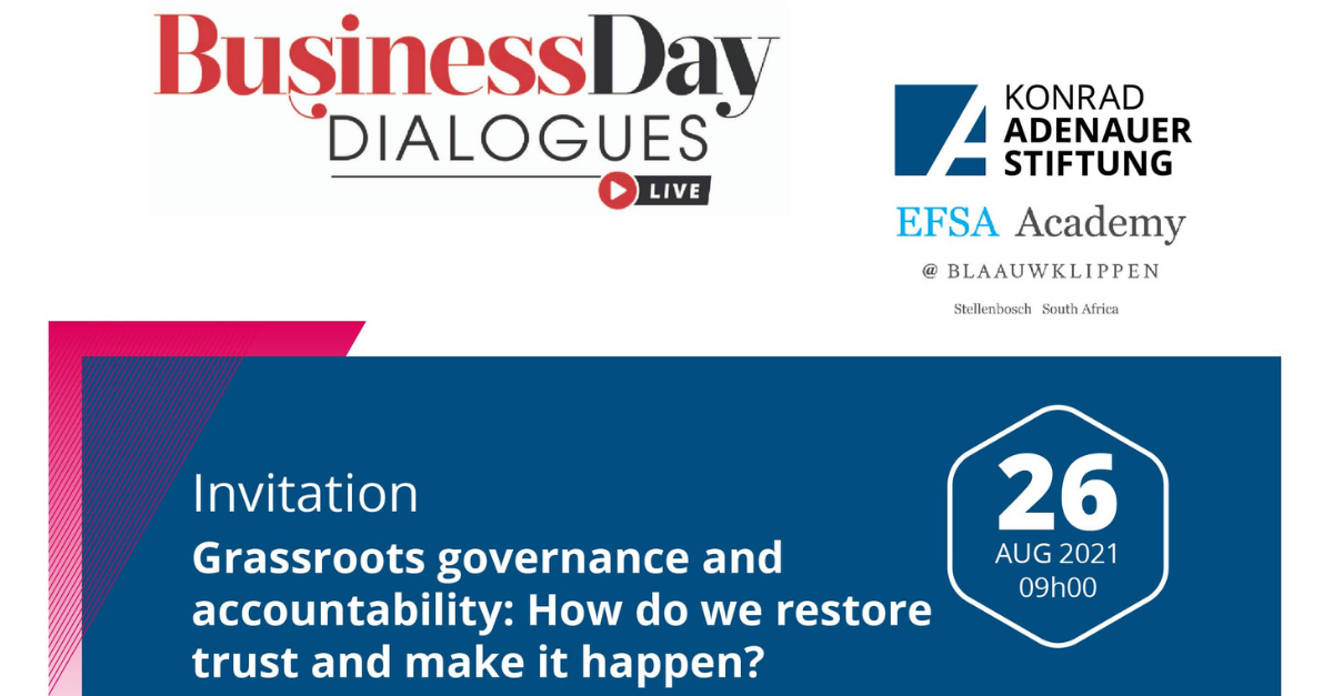 Grassroots Governance and Accountability: How do we build trust and make it happen